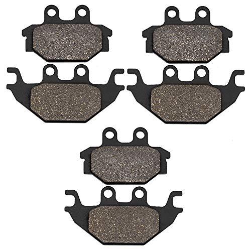 Cyleto Bremsbeläge vorne + hinten für KYMCO MXU 250 R 2012 2013 MXU 300 2005-2014 MXU 300 R 2010 2011 2012 2013 MXU 500 4x4 Carb 2005-2013