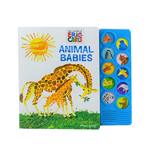 World of Eric Carle  Animal Babies 10-Button Sound Book - PI Kids (Play-A-Sound)
