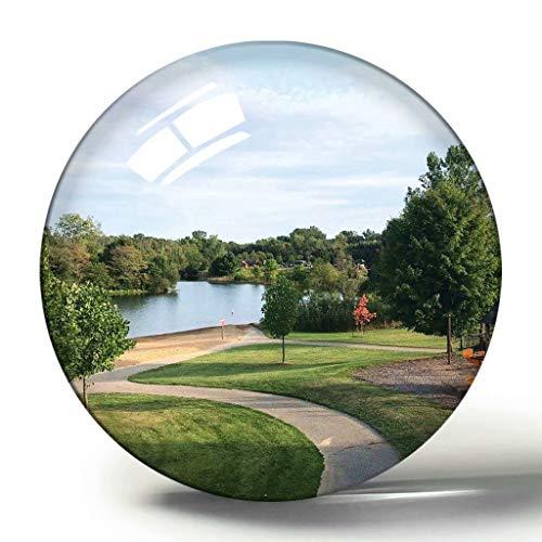 Imán de Kalamazoo 3D para nevera de Estados Unidos, colección de recuerdos, regalo circular, cristal para nevera