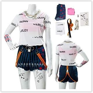 ハロウィン クリスマス コスプレ Harley Quinn ハーレイ クイン コスプレ 衣装 風