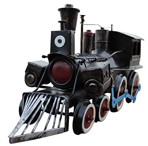 FACAI Steam Vintage Adornos de Tren Modelo de Locomotora de