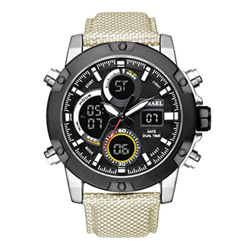 AYDQC Reloj del Deporte de los Hombres del Reloj Digital 30 m Resistente al Agua analógico Reloj de Cuarzo fengong (Size : A)