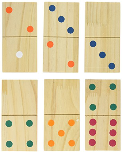 Hey! Play! Giant Wooden Dominoes Game Set