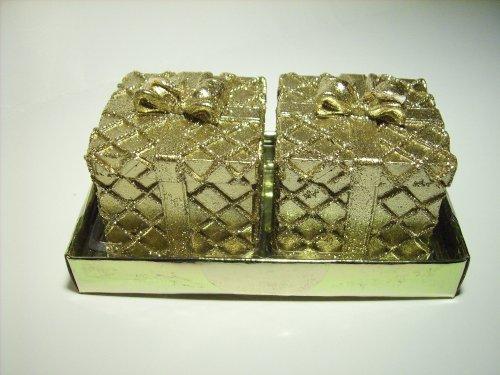 2 candele in nobile regalo form colore oro Glitter 5,5 cm