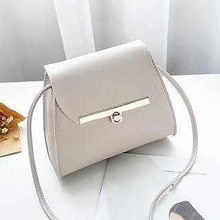 Wultia - Womens Purses and Handbags White Bag Women Fashion Pure Color Leather Messenger Shoulder Bag Chest Bag malas de senhora #T09 Gray
