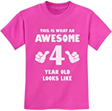 This is What an Awesome 4 Year Old Looks Like 4th Birthday Gift Kids T-Shirt