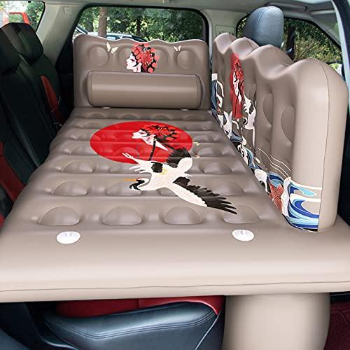 QAZX Auto Luftmatratze Rücksitz Aufblasbare Bett Tragbare Schlafmatratze mit Elektrische Luftpumpe und 2 Kissen Auto Reisematratze für Camping, Pool, Park, Strand, Hof