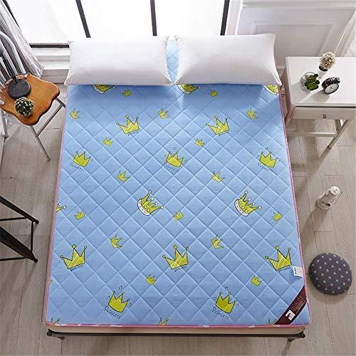 Matrasbeschermer, bedrukt, dikke matras, slip, gevoerd, ademend, opvouwbaar, voor volwassenen en kinderen. 90x200cm(35x79inch) B