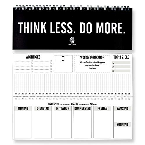 CHIEFS & TRIBES® Tischkalender I Wochenkalender im Quer-Format I 52 Wochen, 1 Woche 2 Seiten I Ohne festes Datum für 365 Tage I Terminplaner 2021