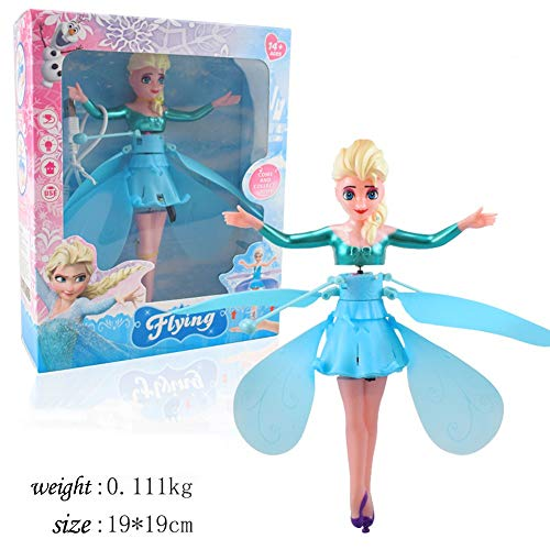 Flying Fairy Doll, with Lights Infrared Induction Control Rc Helicopter Kids Toys Ballet Girl USB Charging for Girls Kids Teenagers Adults Indoor Games