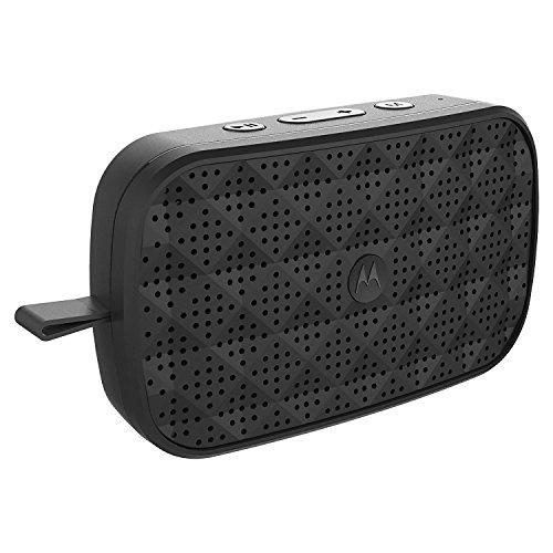 Motorola Sonic Play 150 Bluetooth Lautsprecher mit • Stereo Sound Qualität • FM Radio • Freisprecheinrichtung | 4 Stunden Spielzeit | 15 Meter Reichweite | Schwarz
