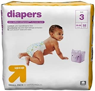 Up & Up Diapers (Size 3 (32 Count) 16-28 lbs)
