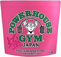 【公式販売店】POWERHOUSE GYM | パワーハウスジム ホエイプロテイン ストロベリー たんぱく質 23.8g 極ボディ FWJ公認