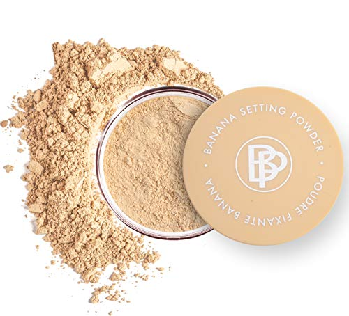 bellapierre Banana Setting Powder | Lightweight Color-Correcting Powder with All Day Makeup Protection | Eliminates Blotchiness and Dark Under-Eye Circles | Matte Tint - Original - 0.14 Oz