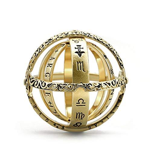 Soulitem Anillo plegable, bola astronómica, anillo de bola, anillo Kosmico, anillo para parejas, amantes, joyas, regalos para mujeres y hombres