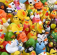 Rhode Island Novelty Assorted Rubber Ducks Set of 100 assorted ducks per order Assortments may vary Ideal for small prizes Ages 3+