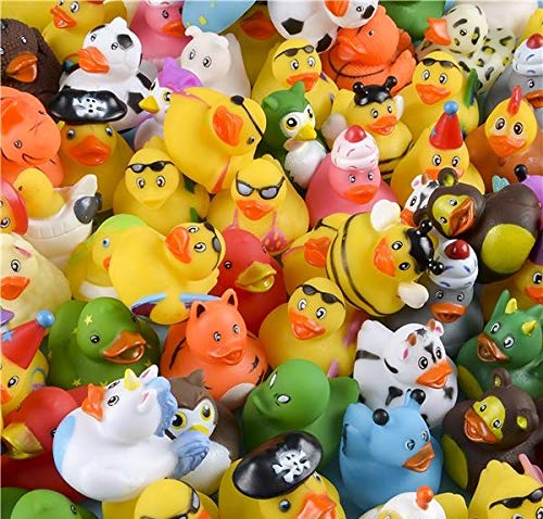 Rhode Island Novelty Assorted Rubber Ducks, Set of 100