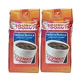 Dunkin Donut Coffee ダンキンドーナツ コーヒー (French Vanilla フレンチバニラ) 340gx2パック [並行輸入品]