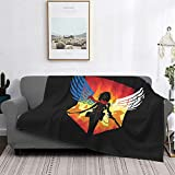 JinSPef Misa-Ka Attac-K O-N Ti-Tan Freedom Wings Flannel Throw Blanket Lightweight Comfy Plush Blankets Fleece Microfiber Throw for Bed Couch Camping