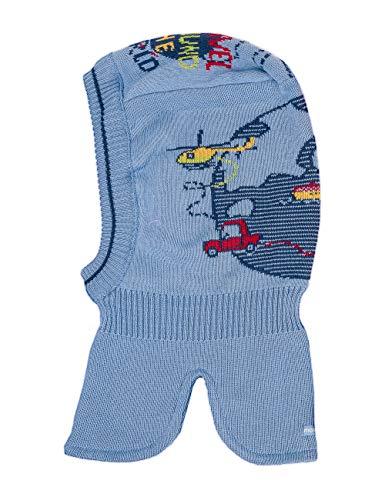 maximo Baby-Jungen Schlupfhaube Fahrzeuge Mütze, Mehrfarbig (Himmel/Graphit Blau 6550), (Herstellergröße: 49)