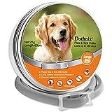 dothnix Collares Antipulgas Aantiparasitos para Perros y Gatos contra Pulgas, Garrapatas y Mosquitos, 8 Meses de Protección(63cm)