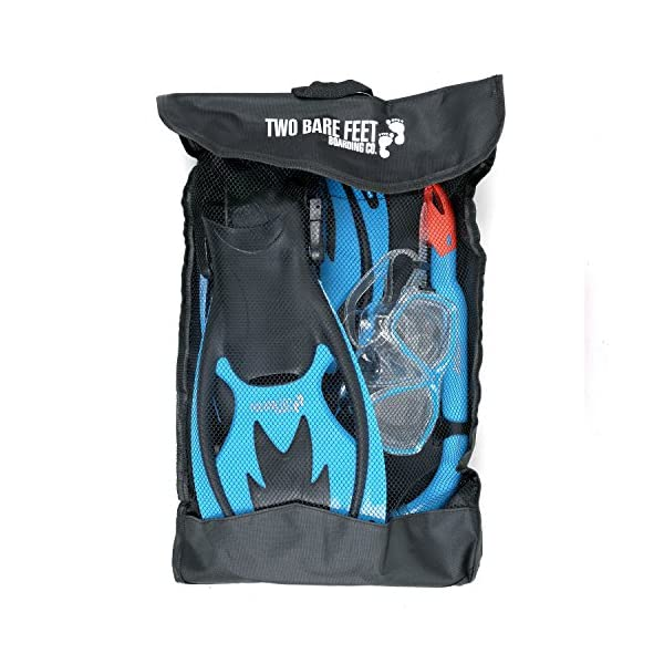 Two Bare Feet Mask, Snorkel & Fins/Flippers PVC Diving Set (Kids) - Scuba Dive Snorkelling Sets
