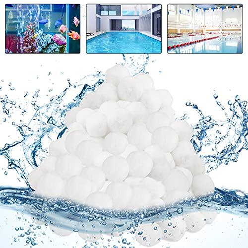 Filterbälle für Sandfilteranlagen, 1300g Pool Filterbälle, Kann 46 kg Filtersand Ersetzen, Sandfilteranlage Filterballs Geeignet für Pool Filter Schwimmbad Filteranlage, Poolreinigung Zubehör.