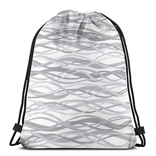 Lawenp Red Line Discount Unisex Outdoor Gym Sack Bag Travel Mochila con cordón