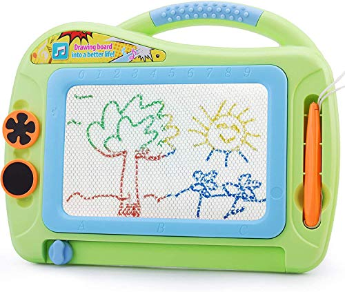 Magnetic Drawing Board Boys Girls Toys Age 2-7, Colorful Writing Tablet Erasable Etch Sketching Pad Magna Doodle Scribble Board for Kids Birthday