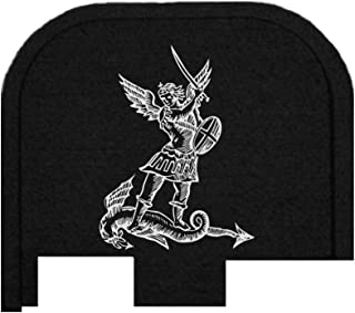 BASTION Laser Engraved Butt Plate, Rear Slide Cover Back Plate for Glock G43, G43X, and G48 9mm ONLY - ST. Michael