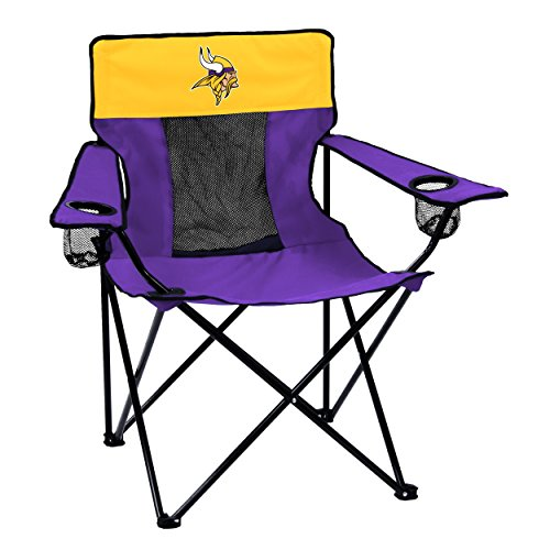 Logo Brands NFL Minnesota Vikings Folding Elite Chair with Mesh Back and Carry...