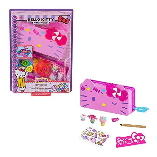 Hello Kitty Astuccio per Matite, si Trasforma in Playset Luna Park con 2 Mini Personaggi,...
