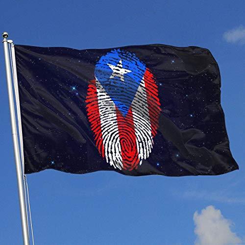 Zudrold Banderas al Aire Libre Bandera de Puerto Rico Bandera de Huellas Digitales para fanáticos de los Deportes Fútbol Baloncesto Béisbol Hockey