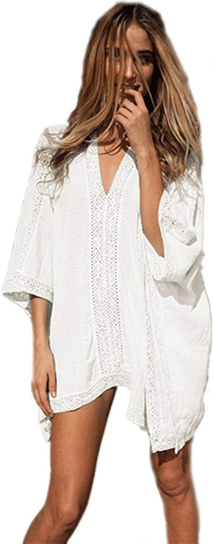 Oudan Strandkleid Bikini-Blause Damen-Sommermode-Kleid, weiß (Farbe     -, Größe   -) B07MFS921S  Viele Sorten 6bba04