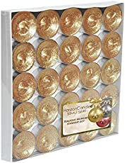 Horizon Candles Shiny Tealights Unscented Candle 25 pieces