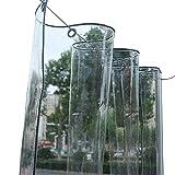 Bâches Bâche Transparente Imperméable En PVC Avec Oeillets, Bâche Transparente Résistante Aux Déchirures pour Jardinerie De Jardin Extérieur (350g / M², 550g / M²) (Color : 0.5mm, Size : 2.4×4m)