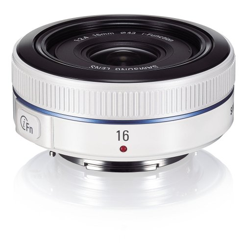 Samsung NX 16mm f/2.4 Camera Lens - White (EX-W16ANW/US)