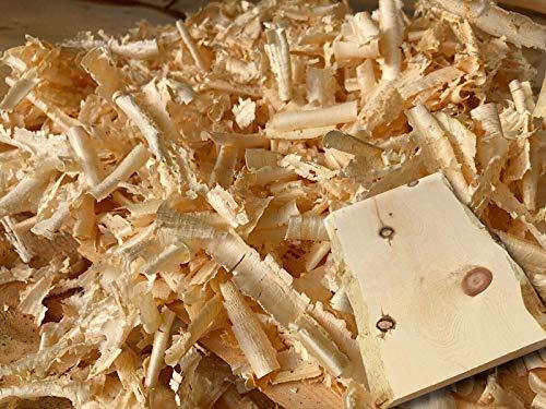 jaka-online 1kg Zirbenspäne frisch gehobelt Zirbenholz Zirbelkiefer Zirbenkissen Füllung Flocken inkl. Zirbenbrett