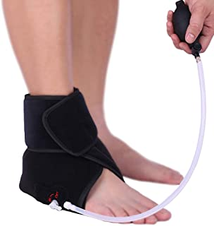 Hot/Cold Therapy & Air Compression Ankle Support Wrap for Alleviating Ankles Pain Arthritis Swelling Sports Injuries Plantar Fasciitis and Increase Circulation