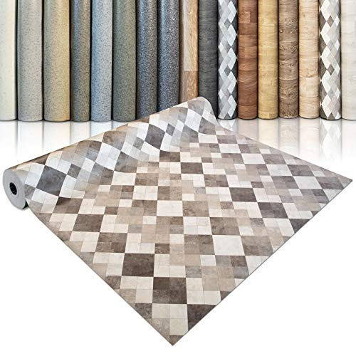CV Bodenbelag Toscana Sand - extra abriebfester PVC Bodenbelag (geschäumt) - Naturstein Marmor Mosaik - edle Steinoptik - Oberfläche strukturiert - Meterware (100x100 cm)