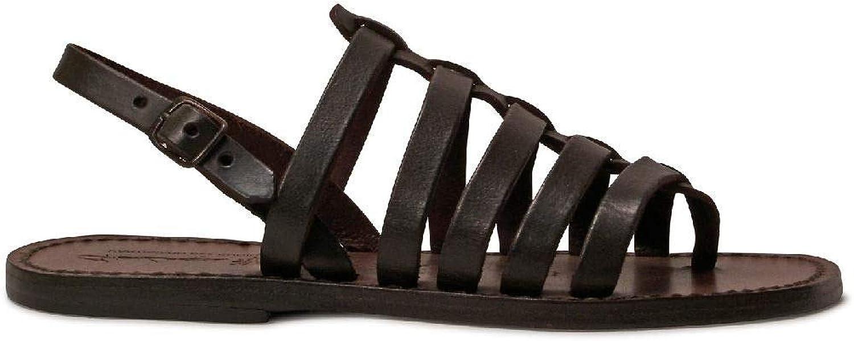 GIANLUCA - L'ARTIGIANO DEL CUOIO Women's 1280BROWN Brown Leather Sandals