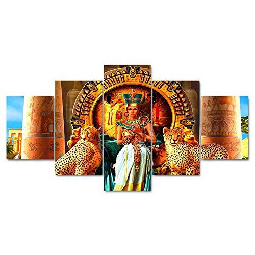 CGUKRTV Impresiones sobre Lienzo 5 Cuadros En Lienzo Modernos Salón Decoracion Murales Pared Lona XXL Grande Hogar Dormitorios Decor Cuadros La Casa del Pequeño Príncipe