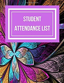 Student Attendance List: Stained Flower Glass Window Style Design
