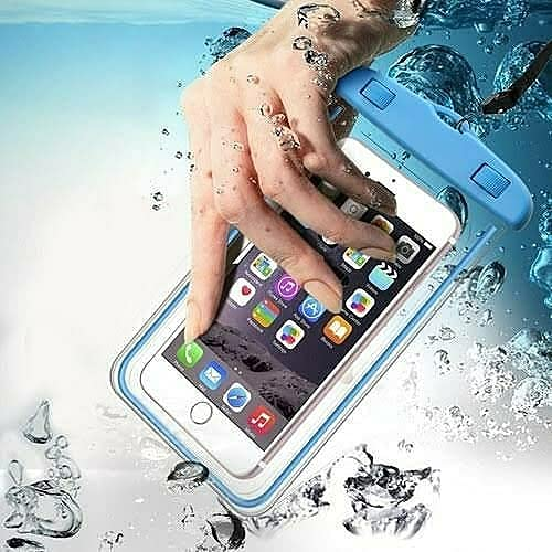 Waterproof Mobile Cover Pouch | Cell Phone case | Mobile Cases | Waterproof Phone Pouch for iPhone Xs Max XR XS X 8 7 6S 6 Plus All Mobile Cover Moto up to 6.5 inch, Transparent (Pack of 1)