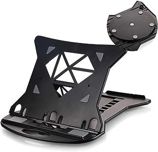MUTANG Soporte para computadora portátil multifuncional con soporte de portátil de radiador de altura ajustable, diseño giratorio de 360 ° en la parte inferior, panel hueco con almohadilla de silico