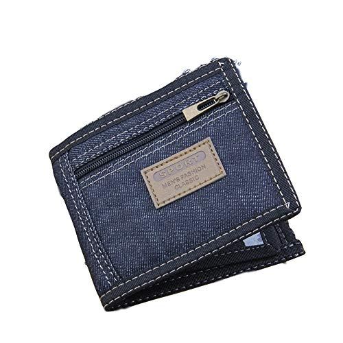 HEIMIAOMIAO Dames Portemonnee Nieuwe Vintage Denim Blauw Jeans Canvas Portemonnees Vrouwen/Mannen Kwaliteit Man Beste Gift voor Vriendje Korte Rits Coin Bag Purses