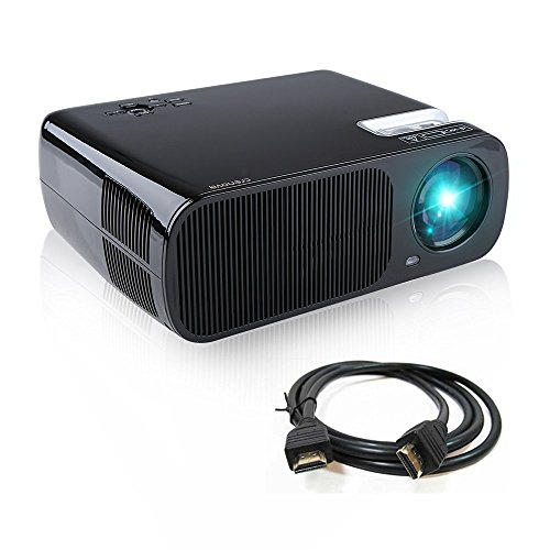 Video Projector, Crenova XPE680 720P HD Projector, Home Theater Multimedia Video Office Projector HD 1080P 5.8' LCD Panel HDMI/VGA/AV/USB Input with Free HDMI Cable Support TV Laptop Game U Disk