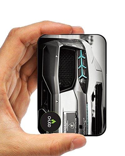 CHJGD Lambo Banco de energía, ultracompacto, batería externa de 10000mAh, cargador portátil, color negro