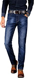 YOUTHUP Mens Stretchy Jeans Slim Fit Straight Leg Comfortable Denim Trousers Casual Mid Rise Jeans
