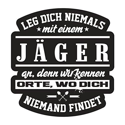 Aufkleber Wetterfest JÄGER 10oder 40cm Waidmannsheil Förster Jagd Forst Wald